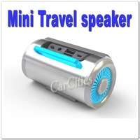 Mini travel Speaker with FM Radio,Multimedia travel Stereo,mp3 speaker/player  for PC/mobile phone/TF card/SD Card,Free shipping