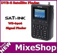 "FreeShipping ! SATlink WS-6906 DVB-S FTA Data Digital Satellite Signal Finder Meter 3.5"" LCD WS6906"