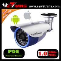 Free shipping Wetrans TR-HIPR124-POE  Outdoor 720P 1.0 Megapixel IP camera POE