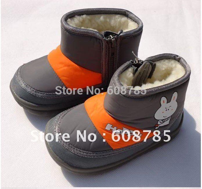 Inverno bebê recém-nascido à prova d ' água suaves único anti-derrapante sapatos da criança bebê aquecido botas de neve de algodão grátis frete Dropshipping B0316(China (Mainland))