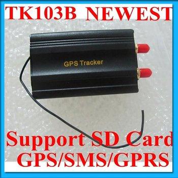 Vehicle Car GPS Tracker TK103B with Remote Control GSM Alarm SD Card Slot Anti-theft/car alarm system Freshipping