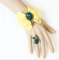 New Spring Fashion Butterfly Flower Lace bracelet wedding jewelry bridal bracelets handcuff vintage handmade jewelry B38