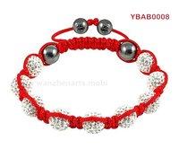 New popular white  shamballa bracelet