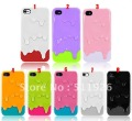 2012 new arrival Ice Cream plastic Case for iPhone 4 4G 4S ,colorful Melt brand hard cover for iphone 4s Free Shipping