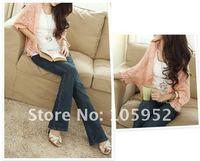 FREE SHOPPING 2011 New Fashion Korea Women Hollow Sweater Shawl Shrug Jacket Knitwear Cardigan four color