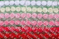 "Free DHL/EMS 2.5"" shabby chiffon rose trim,frayed flower,hair accessories,115yds/lot,41 stock color for selection"