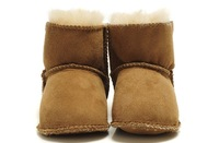 Wholesale 10pcs/lot 100% Natural Australian Sheepskin Fur Wool Baby Shoes infant Snow Boots suit for 0-2 years 3 colors