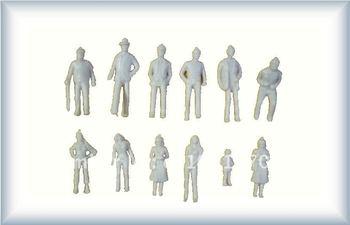 100pc 1:50 white unpainted train layout architectural building model figure,