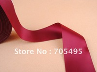FREE SHIPPING  2'' Christmas Gift Packing Burgundy Red Double Face Satin Ribbon
