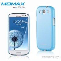 For Samsung Galaxy s3 i9300 Momax protective shell,metal gloss coating surface with Screen protector Hongkong Post Free shipping