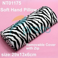 Freeshipping-New Soft Zebra Hand Cushion Rest Pillow  With Removal Cover with Zip Nail Art Manicure Tool Fashion RetailSKU:F0081