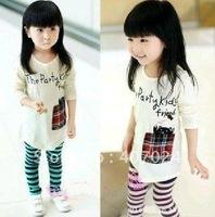 Promotion Cotton girl's t-shirts childrens t shirts fashion baby t shirt 5pcs/lot kids primer shirt wearing 610139J