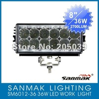 "Wholesale! 10PCS 8"" 36W 1350LM Off road Truck ATV LED Working Light Bar SM6012-36"