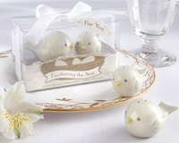 Feathering the Nest Love birds Salt  and Pepper Shaker 15Set/Lot wedding favors and gifts 2PCS/Set Free shipping