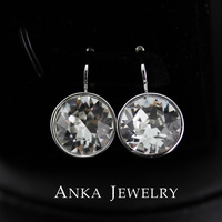 Free Shipping Pendant Bella Clear Crystal Pierced Earrings Made With Genuine Swarovski Elements #91645