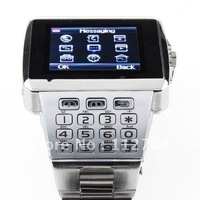 X8 Steel WiFi & JAVA Watch Phone with Touchscreen Keypad Bluetooth Dual SIM Quad Band Freeshipping