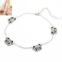 Min.order is $10 (mix order) Fashion jewelry summer anklet ,handmade cute panda pendant anklet