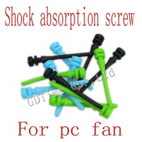 Free Shipping 400PCS New  Computer Fan Silicone Screw Shock Absorption Reducte Noise