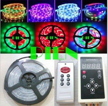 WS2811 Magic LED Strip dream color 5050 RGB SMD Intelligent Strip Light 6803IC 5M waterproof 133 Program Free Shipping 1 set/lot(China (Mainland))