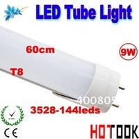 Wholesale G13 T8 9W LED Tube light 3528 600mm 60CM 144 Lighting 85V~265V warranty 2 years CE RoHS x 10 PCS - ship via express