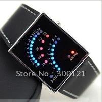 29 LED Blue Red Light Digital Date Lady Men Wrist Watch