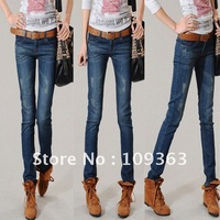 New Vintage Wash Women's Denim Jeans,Plus Size Popular Casual Denim Pants Joker style.Free shipping QQ8062