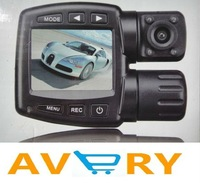 FULL HD HIGH DEFINITION VIDEO CAMCOROER  Dual HD Car black box H.264  1280*720 30fps free shipping