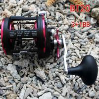 Fishing Baitcasting Bait Caster BT20 3+1 Ball Bearing Trolling Boat High Speed 4.1:1