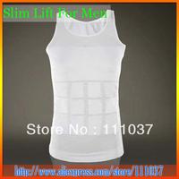 Free Shipping Mens Slim Lift Body Shaper Vest 50pcs/lot With OPP bag packed