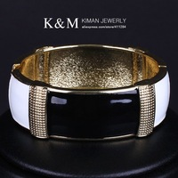 K&M---New unique design Women's  painting bracelets & bangles BR-03084 .Free shipping. Nickel free.
