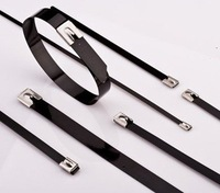7.x200mm Plastic sprayed stainless steel cable ties
