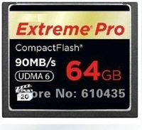 Free shipping Extreme Pro Compact Flash CF card  64GB 600X 90MB/s for 7D 5D2 5D3