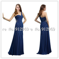 Free Shipping Evening Dress One Shoulder Floor Length evening dresses