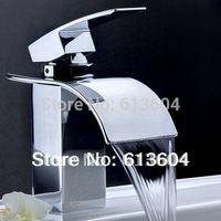 2015 Basin Faucet Banheiro Torneiras Bathrom Faucet Circle Bathroom Waterfall Basin Without Pop-up Drain Kitchen & Bath Store