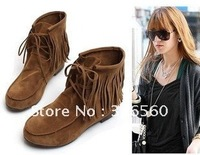 Best selling!! Ladies Fashion tassel boots for women fashion winter boots Free shipping 1pair
