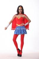 Hot sell supermen costumes,women halloween costumes,ladies cosplay  BLS315