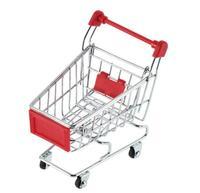 6Pcs Mini Trolley S size Supermarket Portable storage baskets Mobile Phone Holder