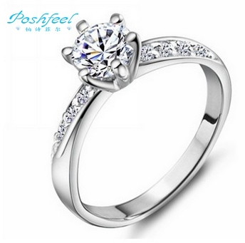 Hot sell,fashion,Famous PF brand jewelry 925 silver ring+The Swiss import crystal+Three layers of platinum full star ring