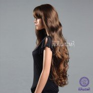 super long brown ,sexy, women hair weaves wigs with bangs synthetic