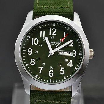 Nice Outdoor Carabiner Watches Calendar/Week Military Quartz Watch EYKI Canvas Watchband Unisex Watches Free Shipping #M961