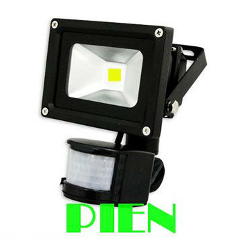 LED flood light PIR Motion detective Sensor 10W Black Outdoor lighting activated landscape lamp 85V-265V Free Shipping 1pcs/lot