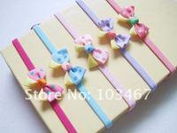 5pcs/lot 5 colors dot bow headband children headbands mix colors free shipping