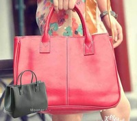 Korea Style PU Leather Handbag Bags Totes Purse, Bags For Women 2013, Ladies' pu Shoulder Bags For Women 13 colors LB026