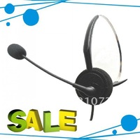 Call center Headset with Ridgid Metal Boom Microphone direct with rj09& microphone  5pcs/lot DHL free shipping