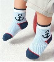 Popular Cartoon baby socks Antislip baby boys hosiery 1-3T infant cotton socks 12pairs/lot 670029J Free Ship