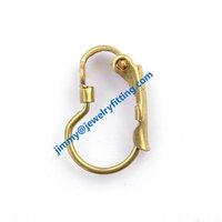 Earring findings brass lever back earring clip Screw back earrings clip  fashion jewelry findings B shape