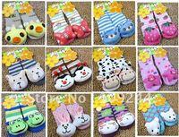 new styles terry socks children socks towel animals cartoon toys socks non-slip floor socks 6pairs/lot