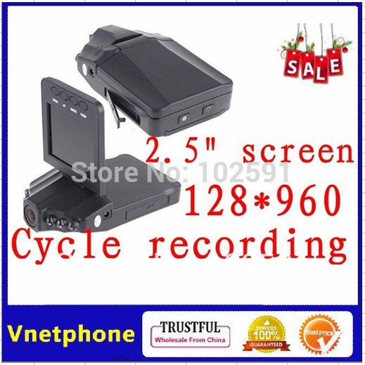 "201208 Free Shipping Vehicle Car DVR Recorder Camera Road Safety Guard 2.5"" TFT LCD Screen 1280 x 960 Pixels(China (Mainland))"