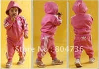 Free shipping children sporty suit,children jacket+pant,children wear,kids suit,baby suit