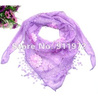 2012 ladies fashion wrap silk sequins scarfs/shawls pendant pure color 10pcs/loy discount best quality 100%silk printed#07002